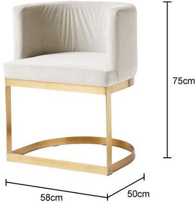 Half Circle Dining Chair image 2