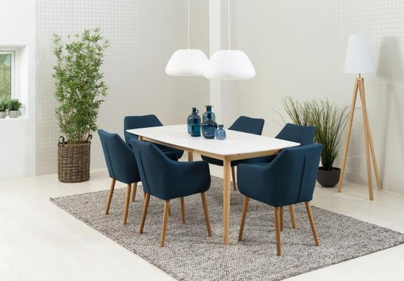 Nori (fabric) carver chair image 5