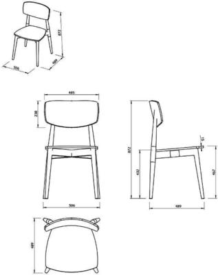 Sally dining chair image 14