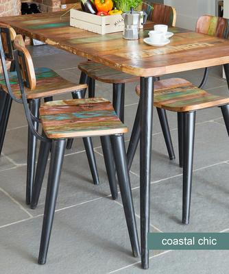 2 x Coastal Chic Dining Chair Reclaimed Timber