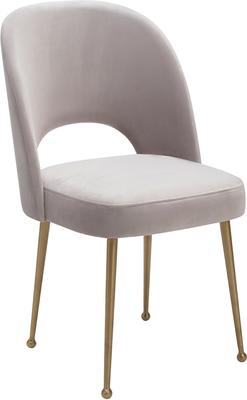 Erin Deco Velvet Fabric Dining Chair Brass Legs image 5