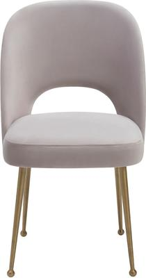 Erin Deco Velvet Fabric Dining Chair Brass Legs image 6