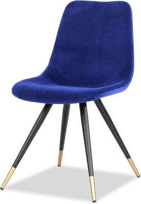 Orson Velvet Dining Chair in Blue or Grey