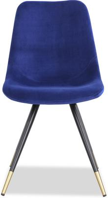Orson Velvet Dining Chair in Blue or Grey image 2