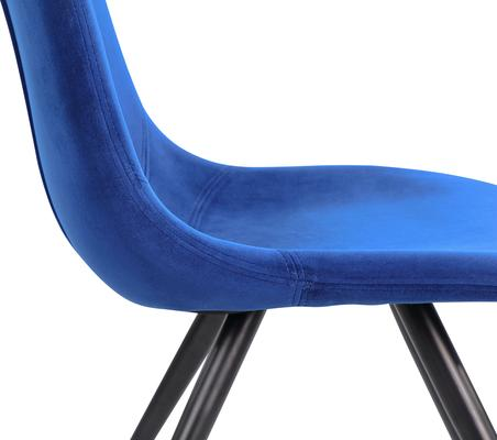 Orson Velvet Dining Chair in Blue or Grey image 3