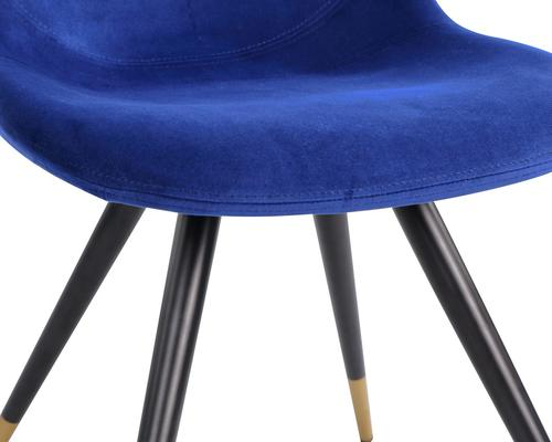 Orson Velvet Dining Chair in Blue or Grey image 5