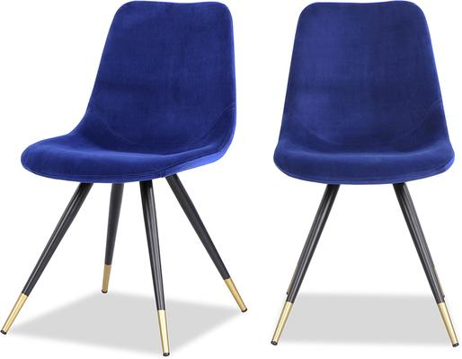 Orson Velvet Dining Chair in Blue or Grey image 12