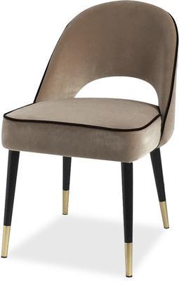 2 x Yves Velvet Dining Chair Grey or Green image 2