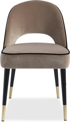 2 x Yves Velvet Dining Chair Grey or Green image 3