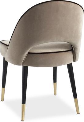2 x Yves Velvet Dining Chair Grey or Green image 4