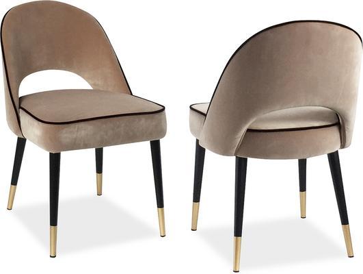 2 x Yves Velvet Dining Chair Grey or Green image 18