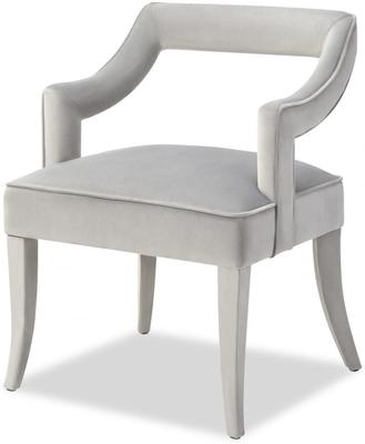 Calvin Velvet Dining Chair Art Deco Grey or Blue