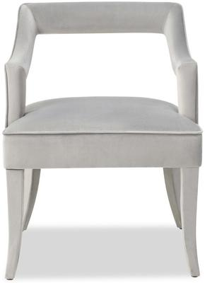Calvin Velvet Dining Chair Art Deco Grey or Blue image 2