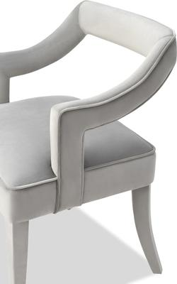 Calvin Velvet Dining Chair Art Deco Grey or Blue image 4