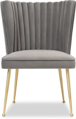Nico Velvet Creased Dining Chair image 8