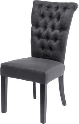 Jansen Dark Grey Buttonback Dining Chair