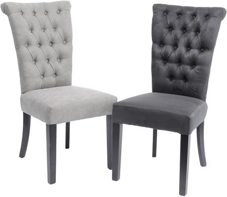 Jansen Dark Grey Buttonback Dining Chair image 2