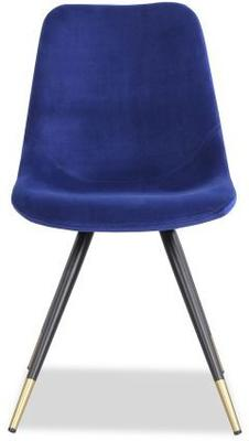 2 x Orson Velvet Dining Chairs Blue or Grey