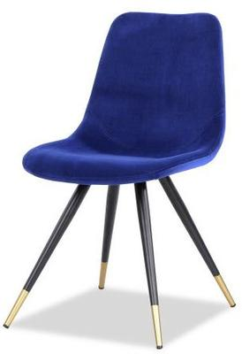 2 x Orson Velvet Dining Chairs Blue or Grey image 3