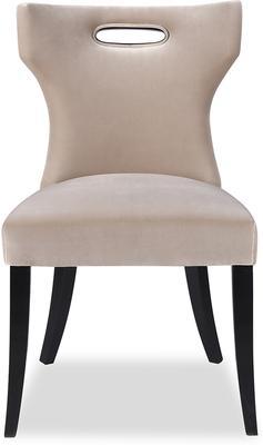 Beck Retro Velvet Dining Chair in Grey or Mink image 2
