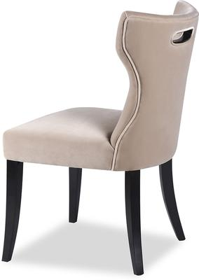 Beck Retro Velvet Dining Chair in Grey or Mink image 3
