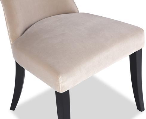 Beck Retro Velvet Dining Chair in Grey or Mink image 4