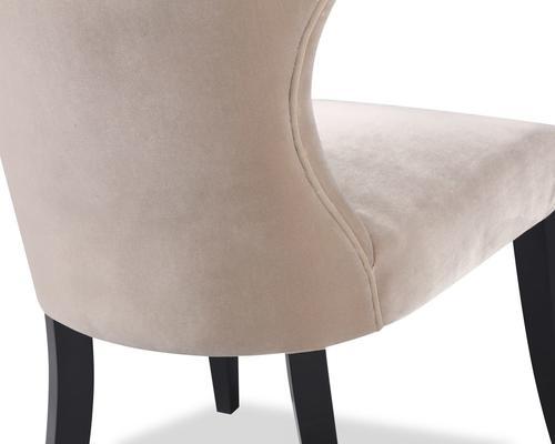 Beck Retro Velvet Dining Chair in Grey or Mink image 5