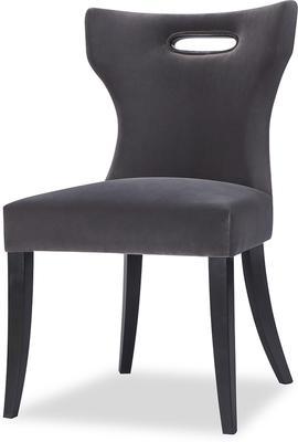 Beck Retro Velvet Dining Chair in Grey or Mink image 6