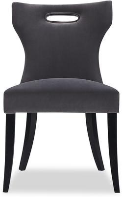 Beck Retro Velvet Dining Chair in Grey or Mink image 7