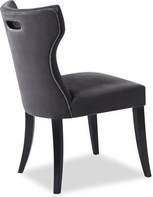 Beck Retro Velvet Dining Chair in Grey or Mink image 8