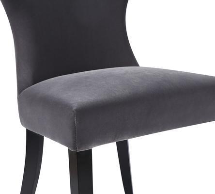 Beck Retro Velvet Dining Chair in Grey or Mink image 9