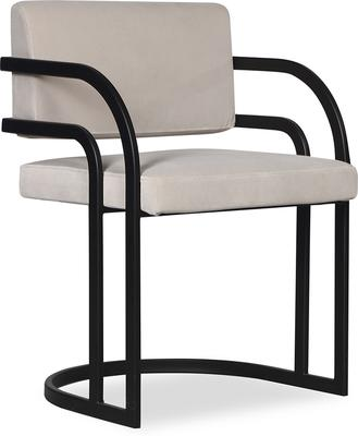 Dylan Art Deco Velvet Dining Chair with Metal Frame image 6