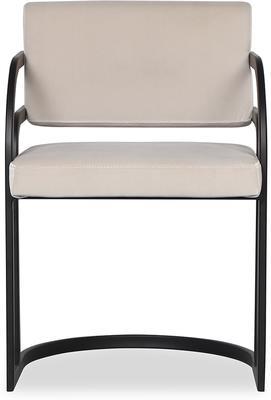 Dylan Art Deco Velvet Dining Chair with Metal Frame image 7