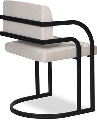 Dylan Art Deco Velvet Dining Chair with Metal Frame image 8