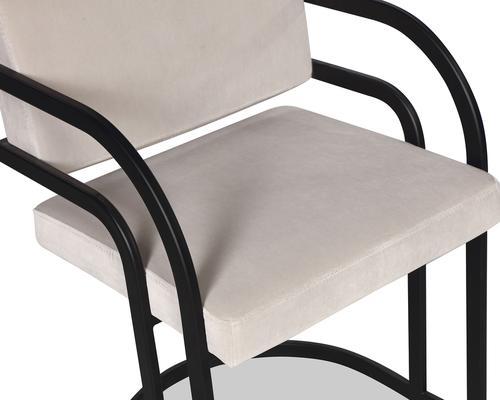 Dylan Art Deco Velvet Dining Chair with Metal Frame image 9