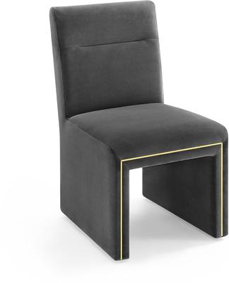Marlow Velvet Dining Chair Dark Grey or Green image 2