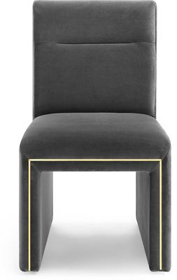 Marlow Velvet Dining Chair Dark Grey or Green image 3