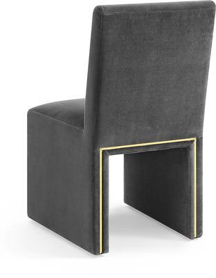 Marlow Velvet Dining Chair Dark Grey or Green image 4
