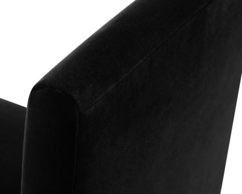 Marlow Velvet Dining Chair Dark Grey or Green image 6
