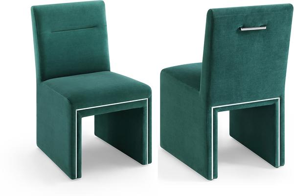 Marlow Velvet Dining Chair Dark Grey or Green image 7