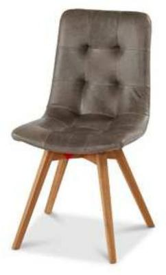 Allegro Grey Leather Dining Chair