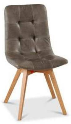 Allegro Grey Leather Dining Chair image 2