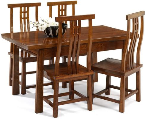 Reclaimed Elm Wood Dining Table image 2