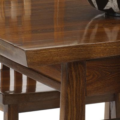 Reclaimed Elm Wood Dining Table image 3