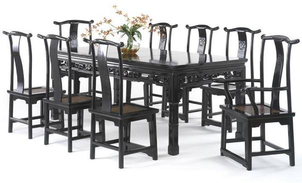 Qing Dining Table, Black Lacquer image 2
