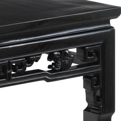 Qing Dining Table, Black Lacquer image 4