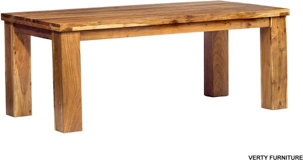 Acacia Dining Table - Large Rustic