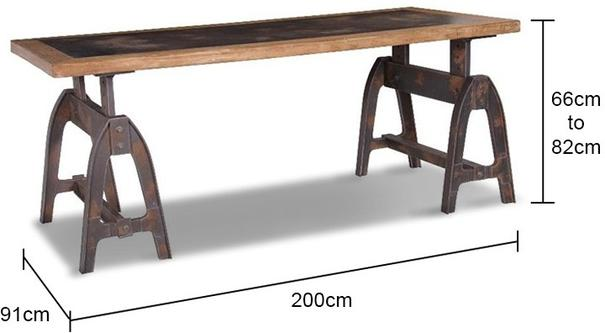 Industrial Dining Trestle Table image 2