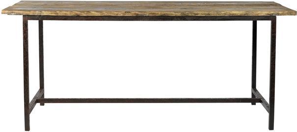 Large Metal Leg Dining Table