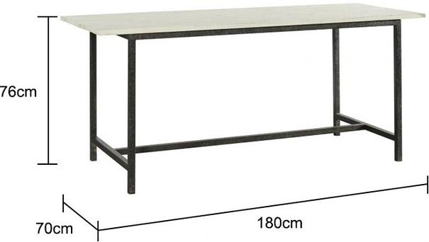 Large Metal Leg Dining Table image 2